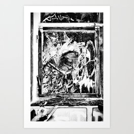 Trashed Art Print