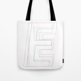 Intertwined Strength and Elegance of the Letter E Tote Bag