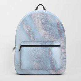 Light Blue Gray Marble Backpack