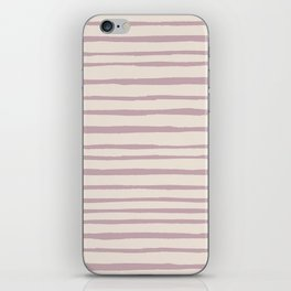 Modern ivory lavender blush geometrical watercolor stripes iPhone Skin