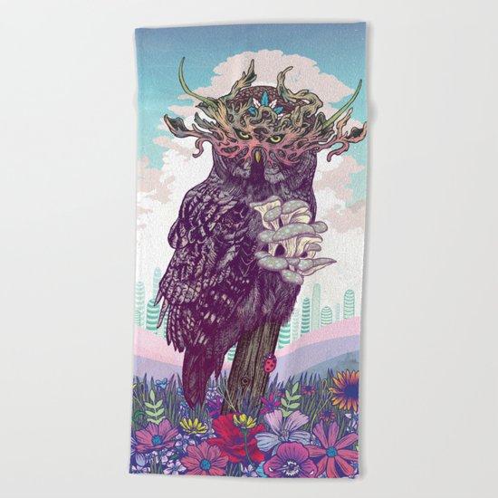 Journeying Spirit (Owl) Beach Towel