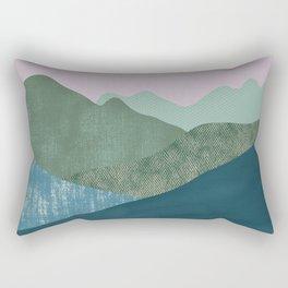 Mountain River #1 Rectangular Pillow