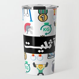 Athlete Icons Arabic Travel Mug