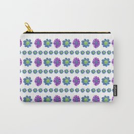 Blue and Purple Pattern Carry-All Pouch