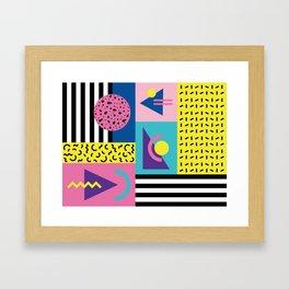 Memphis pattern 53 - 80s / 90s Retro Framed Art Print