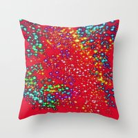 sparkle Throw Pillows featuring Sparkle  by Sammycrafts