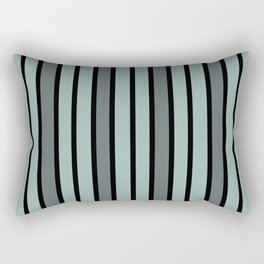 Gray & Black Stripes Rectangular Pillow