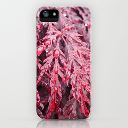 Red Raindrops iPhone Case