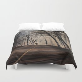 On Assignment: Controled Burn Color Duvet Cover