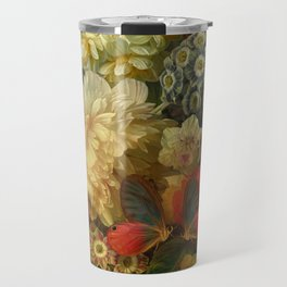 """""""Baroque Spring of Flowers and Butterflies"""" Travel Mug"""