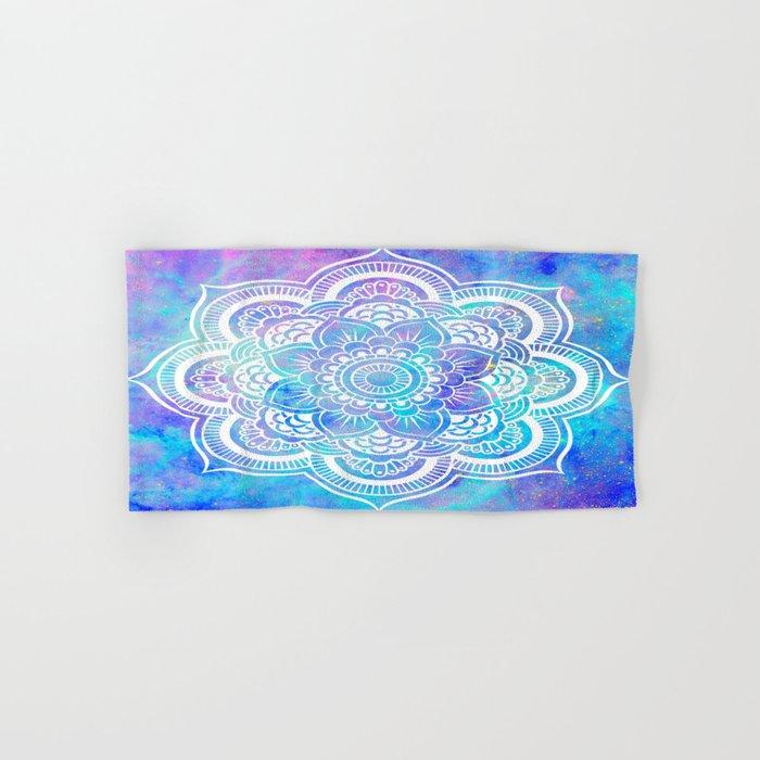 Mandala Pink Lavender Aqua Galaxy Space Hand & Bath Towel