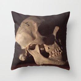 Catacomb Culture - Real Human Skull Oddity Throw Pillow