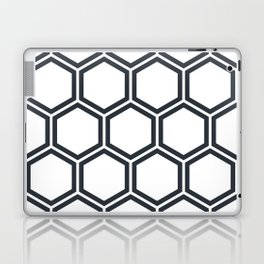 Hexagon White Laptop & iPad Skin
