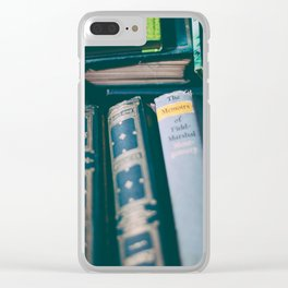 books and memories Clear iPhone Case