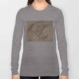 Vintage Map of Provincetown (1836) Long Sleeve T-shirt
