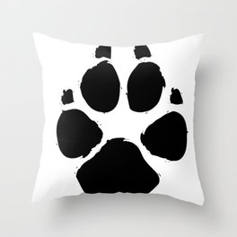 Brushy Paw Throw Pillow