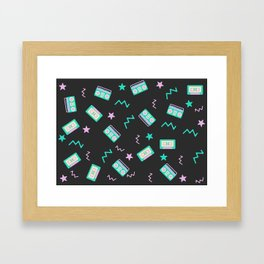 Retro radio pattern Framed Art Print