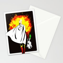 One Punch Man Inspired Painting | Saitama Stationery Cards