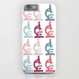 Pink Microscope Pattern iPhone Case