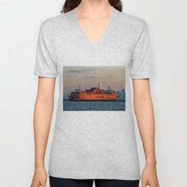 Ferry & The Freedom Tower Unisex V-Neck