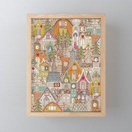 vintage gingerbread town Framed Mini Art Print