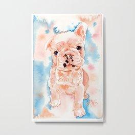 Pastel French Bulldog Painting Metal Print