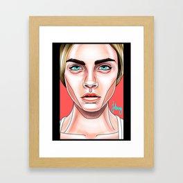 Cara Pop-Art Framed Art Print