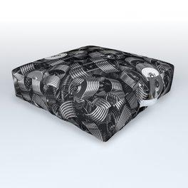 Chrome dumbbells Outdoor Floor Cushion