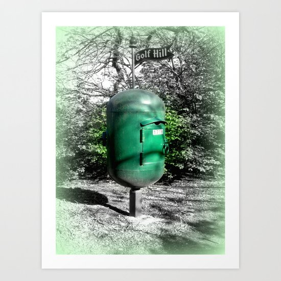 Golf Hill Letter Box Art Print