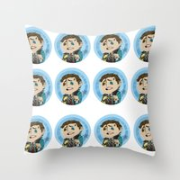 borderlands Throw Pillows featuring Borderlands - Rhys by Tarn
