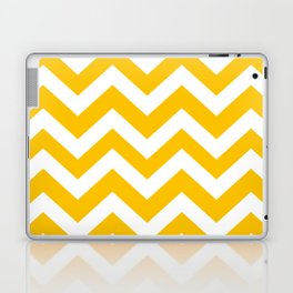 Golden poppy - yellow color -  Zigzag Chevron Pattern Laptop & iPad Skin