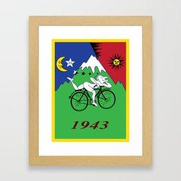 Bicycle Day 1943 Albert Hofmann LSD Framed Art Print