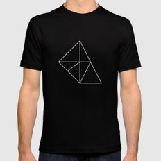 Geometry Mens Fitted Tee Black SMALL
