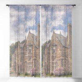 Gothic Victorian Mansion Sheer Curtain