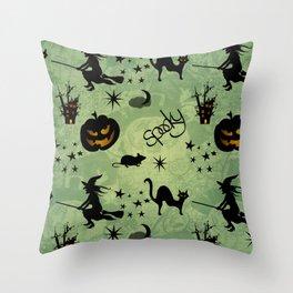 Funny halloween design Throw Pillow