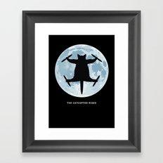 THE CATCOPTER - Humor | Meme | Cat | Internet | Funny | Animal | Bizzarre | Moon  Framed Art Print