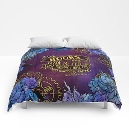 CP - Books Made Me Feel Not Alone (Purple) Comforters