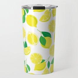 Lemons, tropical pattern Travel Mug
