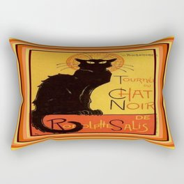 Tournee Du Chat Noir - After Steinlein Rectangular Pillow