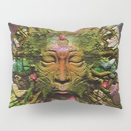 """ The nature acts, the man makes. "" Pillow Sham"