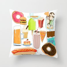 Food Stuffs Throw Pillow