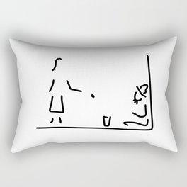makes a donation homeless Rectangular Pillow