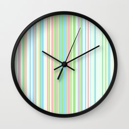 Stripe obsession color mode #2 Wall Clock