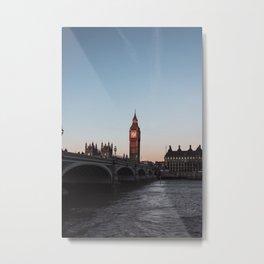 Big Ben, Westminster Bridge at sunrise Metal Print