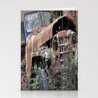 jeep Stationery Cards featuring Vintage Jeep by Victoria Rushie