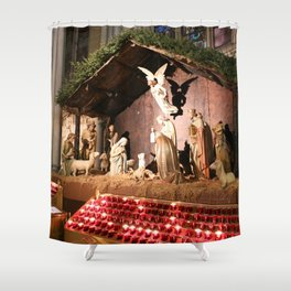 Nativity Scene in St. Patrick's Cathedral Shower Curtain