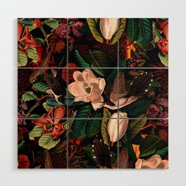 FLORAL AND BIRDS XIV Wood Wall Art