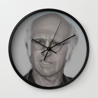 larry Wall Clocks featuring Larry by Alexia Rose