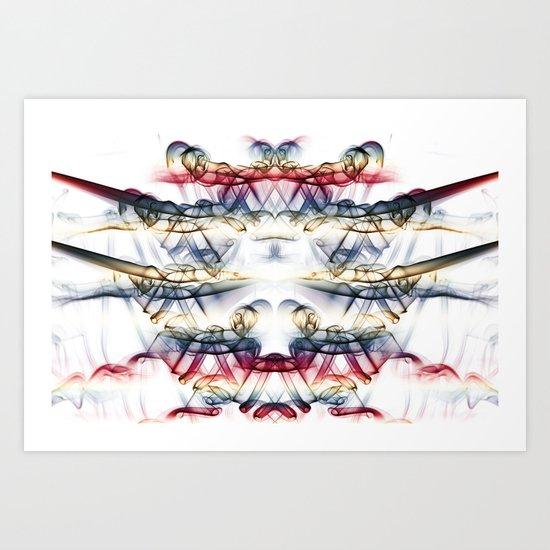 Smoke Art 61 Art Print