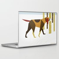 the hound Laptop & iPad Skins featuring Winter Hound by Freedom Art Inc.